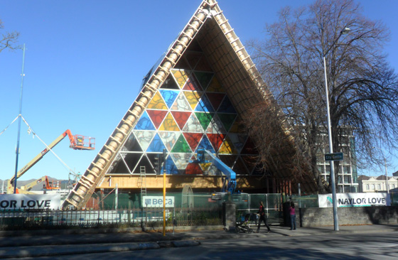 The 'Cardboard Cathedral', Christchurch